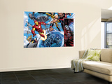 The Mighty Avengers No.9 Group: Iron Man, Ms. Marvel and Dr. Doom Wall Mural by Mark Bagley