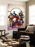 Marvel Adventures The Avengers No.39 Cover: Spider-Man, Thor, Wolverine and Captain America Wall Mural by Casey Jones