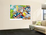Onslaught Reborn No.5 Group: Captain America, Iron Man, Thor, Invisible Woman and Mr. Fantastic Wall Mural by Rob Liefeld