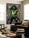 She-Hulk No.26 Cover: She-Hulk Fighting Wall Mural by Greg Land
