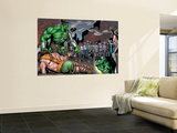 Incredible Hulk No.107 Group: Hulk, Hercules, Namora, Cho, Amadeus and Angel Wall Mural by Gary Frank