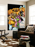 Exiles No.60 Cover: Sabretooth, Blink, Sasquatch and Beak Wall Mural by James Calafiore
