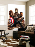 Captain America No.27 Cover: Captain America, Winter Soldier and Falcon Wall Mural