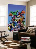 Portada de Guerras secretas, Capitán América Mural por Mike Zeck