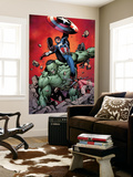 Ultimate Avengers No.4 Cover: Captain America, Hulk, Red Wasp and Black Widow Wall Mural by Carlos Pacheco