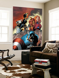 Marvel Adventures The Avengers No.14 Cover: Captain America Wall Mural by Kirk Leonard