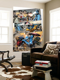 Agents of Atlas 5 Group: Cage, Luke, Ronnin and Captain America Wall Mural by Carlo Pagulayan