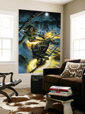 Ghost Riders: Heavens On Fire 4 Cover: Ghost Rider and Scarecrow Wall Mural by Dustin Weaver