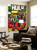Hulk No.9 Cover: She-Hulk, Rulk, Valkyrie, Thundra and Black Widow Wall Mural by Arthur Adams