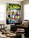 Dave Cockrum - Uncanny X-Men No.126 Cover: Wolverine, Colossus, Storm, Cyclops, Nightcrawler and X-Men Fighting Nástěnný výjev
