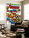Avengers No.148 Cover: Iron Man, Captain America, Hyperion, Thor, Avengers and Squadron Supreme Wall Mural by George Perez