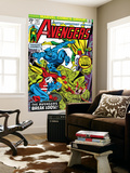 Avengers No.143 Cover: Beast, Captain America, Iron Man, Vision and Avengers Wall Mural by George Perez