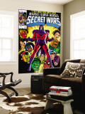Secret Wars 2 Cover: Magneto, Hulk, Spider-Man, Thing, Iron Man and Thor Wall Mural by Mike Zeck