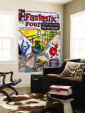 The Fantastic Four No.17 Cover: Mr. Fantastic Wall Mural by Jack Kirby