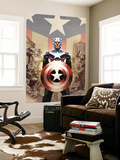 Captain America 45 Cover: Captain America Wall Mural by Steve Epting
