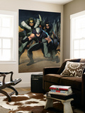Cable 7 Group: Wolverine, X-23, Warpath and Wolfsbane Wall Mural by Ariel Olivetti