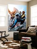 Avengers No.82 Cover: Captain America, Hawkeye, Falcon, Iron Man, Vision, Scarlet Witch & Avengers Reproduction murale par Scott Kolins