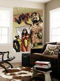 Assault on New Olympus Prologue No.1 Group: Hercules, Spider Woman, Spider-Man and Wolverine Wall Mural by Rodney Buchemi