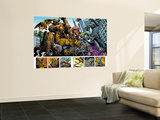 Marvel: Monsters On The Prowl No.1 Group: Hulk, Thing, Groot, Fin Fang Foom and Grogg Wall Mural by Duncan Fegredo