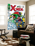 X-Men No.21 Cover: Angel, Beast, Cyclops, Dominus, Iceman, Lucifer, Marvel Girl and Professor X Wall Mural by Werner Roth