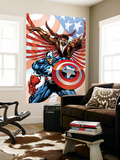 Captain America And The Falcon No.2 Cover: Captain America and Falcon Wall Mural by Bart Sears