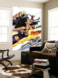 Ultimate Power 9 Cover: Wasp, Human Torch and Power Princess Wall Mural by Greg Land