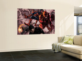 Daredevil No.60 Group: Daredevil, Spider-Man, Iron Fist, and Luke Cage Fighting Wall Mural by Alex Maleev