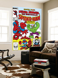 Marvel Tails: Spider-Ham No.1 Cover: Spider-Ham, Captain Americat and Hulkbunny Flying Wall Mural by Mark Armstrong