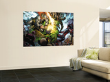 Incredible Hulk 607 Group: Thor, Skaar, Ronin and Red She-Hulk Wall Mural by Paul Pelletier