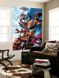 The Ultimates 2 No.1 Cover: Captain America Wall Mural by Bryan Hitch