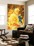 Fantastic Four No.547 Cover: Human Torch and Invisible Woman Wall Mural by Michael Turner