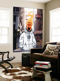 Human Torch V1, No.8 Cover: Human Torch Wall Mural by Skottie Young