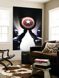 Captain America Reborn: Who will weild the shield Cover: Captain America Wall Mural by Gerald Parel