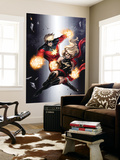 Ms. Marvel 49 Cover: Ms. Marvel and Captain Marvel Wall Mural by Sana Takeda