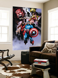 Avengers No.99 Annual: Captain America, Iron Man, Wasp and Avengers Wall Mural by Leonardo Manco