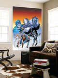 Giant-Size Marvel Adventures The Avengers No.1 Cover: Captain America Wall Mural by Kirk Leonard