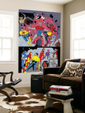 X-Statix No.25 Group: Mr. Sensitive, Vivisector, X-Statix and Avengers Wall Mural by Michael Allred
