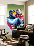 The Amazing Spider-Man 599 Cover: American Son and Iron Patriot Wall Mural by Phil Jimenez