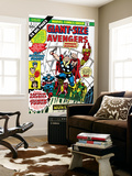 Giant-Size Avengers 1 Cover: Thor, Captain America, Iron Man, Vision and Scarlet Witch Charging Wall Mural by Rich Buckler