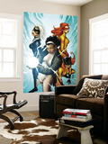 Marvel Divas 3 Cover: Photon, Hellcat, Black Cat and Firestar Wall Mural by Patrick Zircher