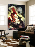The Mighty Avengers No.28 Cover: Scarlet Witch, Wiccan and Patriot Wall Mural