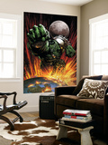 World War Hulk 1 Cover: Hulk Flying Wall Mural by David Finch