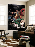 Thor No.84 Cover: Thor and Loki Fighting and Flying Wall Mural by Steve Epting
