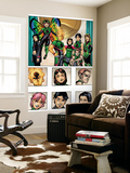 New X-Men: Academy X Yearbook Group: Pixie, Match, Trance, Wolf Cub, D.J., Preview and Paragons Wall Mural by Georges Jeanty