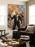 Captain America 44 Cover: Captain America and Winter Soldier Wall Mural by Steve Epting