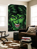 She-Hulk 25 Cover: She-Hulk Wall Mural by Shawn Moll
