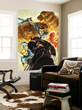 Dark Wolverine 76 Cover: Invisible Woman, Thing, Mr. Fantastic and Human Torch Fighting Wall Mural by Mico Suayan
