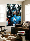 Ultimate Nightmare NNo.2 Cover: Captain America, Black Widow and Nick Fury Swinging Wall Mural by Trevor Hairsine