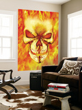 Ghost Rider 15 Headshot: Ghost Rider Reproduction murale géante par Mark Texeira