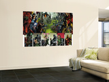 Thunderbolts No.125 Group: Iron Man, Mr. Fantastic, Captain America and Spider Woman Wall Mural by Fernando Blanco